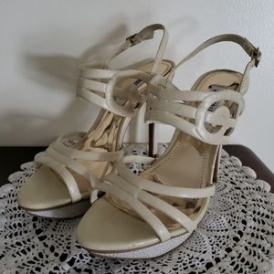 Jennifer Lopez Women's Size 7.5 Ivory Strappy Shoe